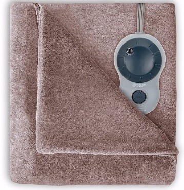 #7 Sunbeam Velvet Plush Heated Blanket, King Size