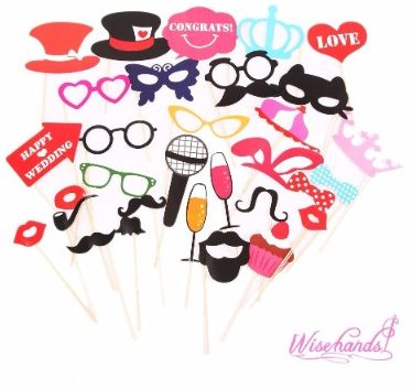 #7 Wisehands Photo Booth Props DIY Kit for Wedding, Birthday, and Party