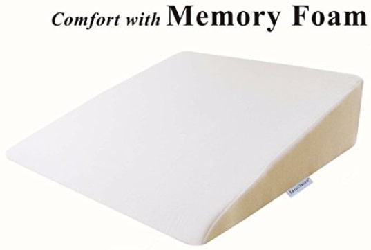 8 intevision foam wedge bed pillow