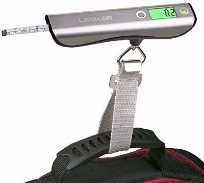 #8 Luggage Scale, LEOKOR Hand Scales with Tape Measure