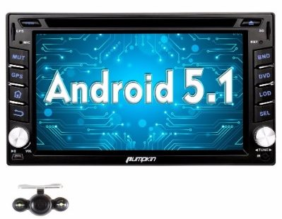 #8 Pumpkin Android 5.1 Car Stereo in Dash 2 Din GPS