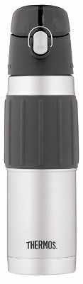 #8 Thermos Vacuum Insulated 18 Ounce Stainless Steel Hydration Bottle, Stainless Steel