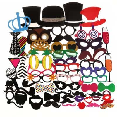 #8 Tinksky Photo Booth Props for Wedding Party Birthdays Photobooth Dress-up