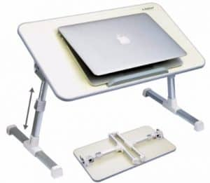#9 Avantree Quality Adjustable Laptop Table, Portable Standing Bed Desk