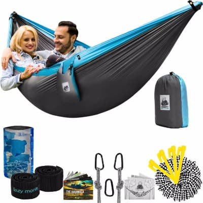 #9 Lazy Monk Double Camping Hammock with Tree Straps