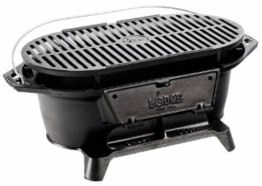 #9 Lodge L410 Pre-Seasoned Sportsman's Charcoal Grill