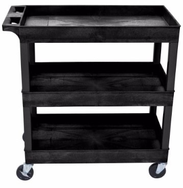 #9 Luxor 32 x 18 Tub Storage Cart 3 Shelves
