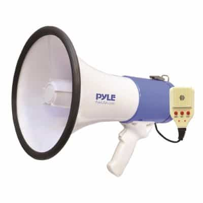 Pyle Megaphone Speaker [Audio PA Sound System] Built-in Rechargeable Battery