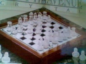 #1 68.p. 3 in 1 Glass Game Set - 12 Chess