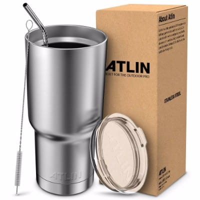 #1 Atlin Tumbler [30 oz. Double Wall Stainless Steel Vacuum Insulation] Travel Mug