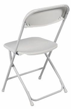 #1 Best Choice Products (5) Commercial White Plastic Folding Chairs