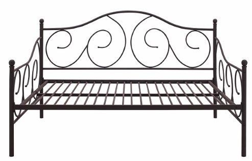 #1 DHP Victoria Full Size Metal Daybed, Bronze