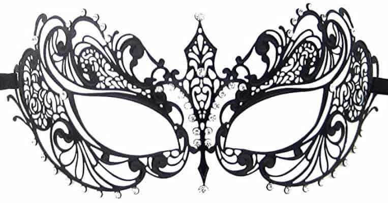 #1 Luxury Mask Women's Laser Cut Metal Venetian Pretty Masquerade Mask