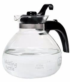#1 Medelco 12-Cup Glass Stovetop Whistling Kettle