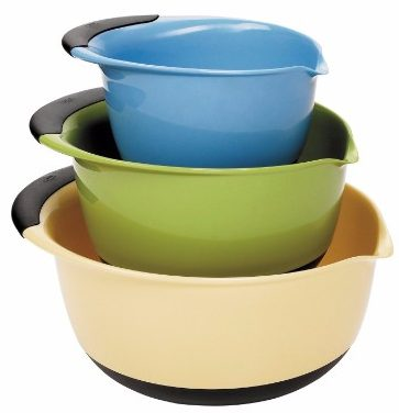 #1 OXO Good Grips 3-Piece Mixing Bowl Set