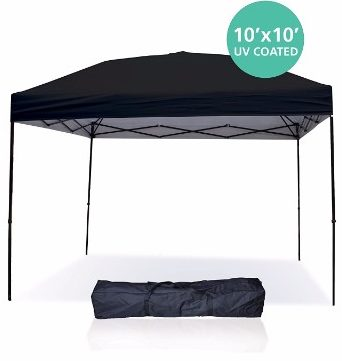 #1 Pop Up Canopy Tent 10 x 10 Feet Party Tent