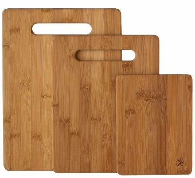 Totally Bamboo Original 3 Piece Bamboo Cutting & Serving Board Set