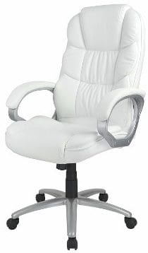 Genial #1 White High Back Leather Executive Office Desk Task Computer Chair