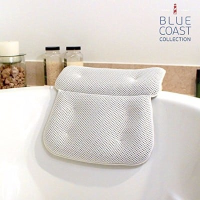 #2 Blue Coast Collection–Bath Pillow for Tub with Konjac Sponge