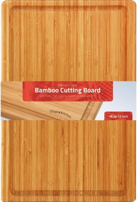 #2 Extra Large Bamboo Cutting Board (17 by 12 inch) - Utopia Kitchen