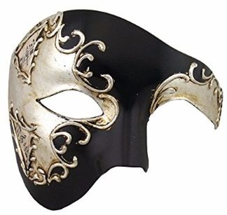 #2 Luxury Mask Men's Phantom Of The Opera Half Face Masquerade Mask