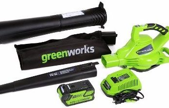 #3 GreenWorks 24322 G-MAX 40V 185MPH Variable Speed Cordless Blower