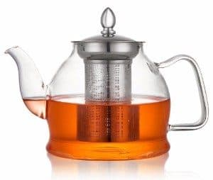 #3 Hiware 1000ml Glass Teapot with Removable Infuser