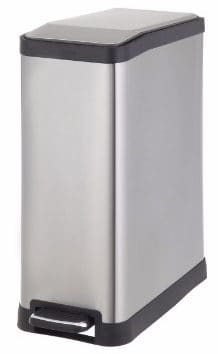 #3 HomeZone 45-Liter Stainless Steel Rectangular Step Trash Can