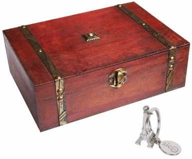 #3 SiCoHome Treasure Box 9.0inch Pirate Small Trunk Box for Jewelry Storage