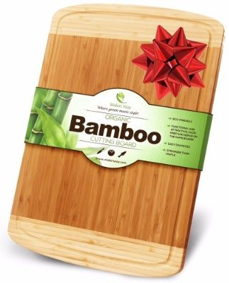 #4 Midori Way Thick Bamboo Wood Cutting Board with Juice Grooves