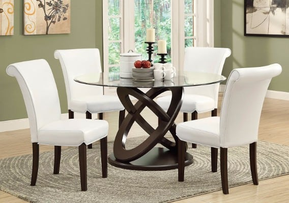 #4 Monarch Tempered Glass Dining Table