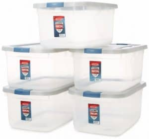 #4 Rubbermaid Roughneck Clear Storage Container