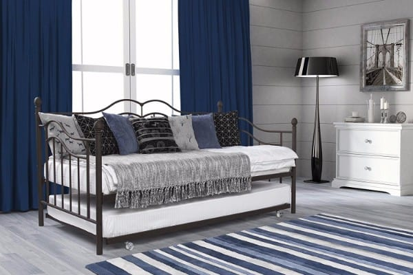 #5 DHP Tokyo Twin Size Daybed and Trundle with Metal Frame