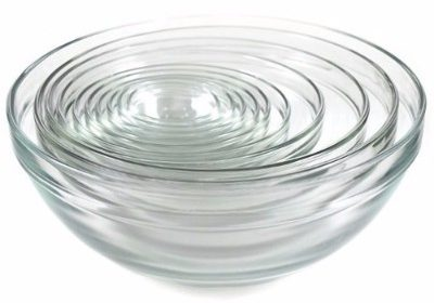 #5 Kangaroo's 10 Pc Glass Bowl Set; Nesting Bowls, Mixing Bowls
