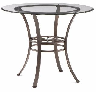 #5 Southern Enterprises Lucianna Glass Top Dining Table