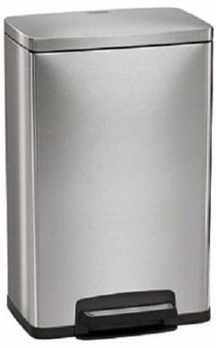 #5 Tramontina Step on Waste Can, Stainless Steel Trash Can