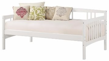 #6 Dorel Living Kayden Daybed Solid Wood, Twin, White