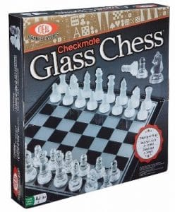 #6 Ideal Checkmate Glass Chess Set