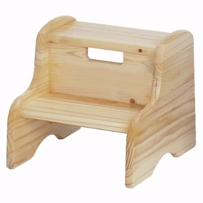 #6 Little Colorado Unfinished Wooden Step Stool