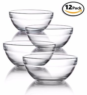 #6 Mini 3.5 Inch Glass Bowls for Kitchen Prep