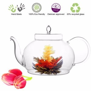 #6 Tea Beyond Large Blooming Tea Glass Teapot Polo