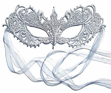 #6 The Authentic Silver Grey Ana Lace Goddess Ana Masquerade Mask