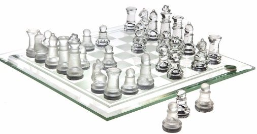 #7 Chess Game Set Fine Glass( 8 x 8)
