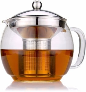 #7 Glass Teapot with Infuser for Blooming and Loose Leaf Tea Pot