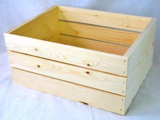 #7 Wooden crate 16x12.25x9.25 high