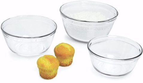 #8 Anchor 77996 3-Piece Mixing Bowl Set