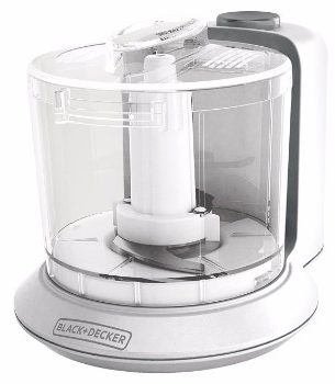 #8 BLACK+DECKER 1.5-Cup Electric Food Chopper, White, HC306C
