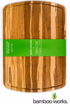 #8 Professional Bamboo Wood Cutting Board and Cheese Board – Tiger Stripe