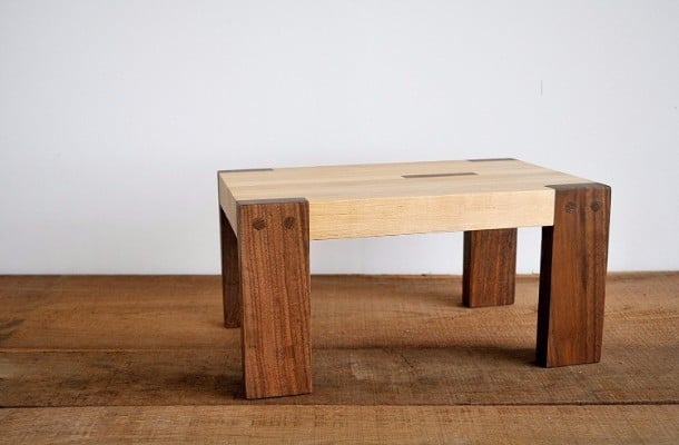 #8 Step Stool by Jonathan Alden, Solid Walnut and Maple