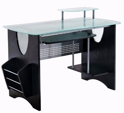 8 Stylish Frosted Glass Top Computer Desk